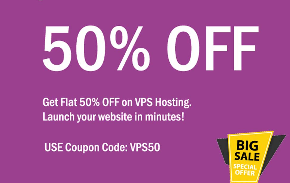 agmwebhosting - Flat 50% Off on VPS Hosting