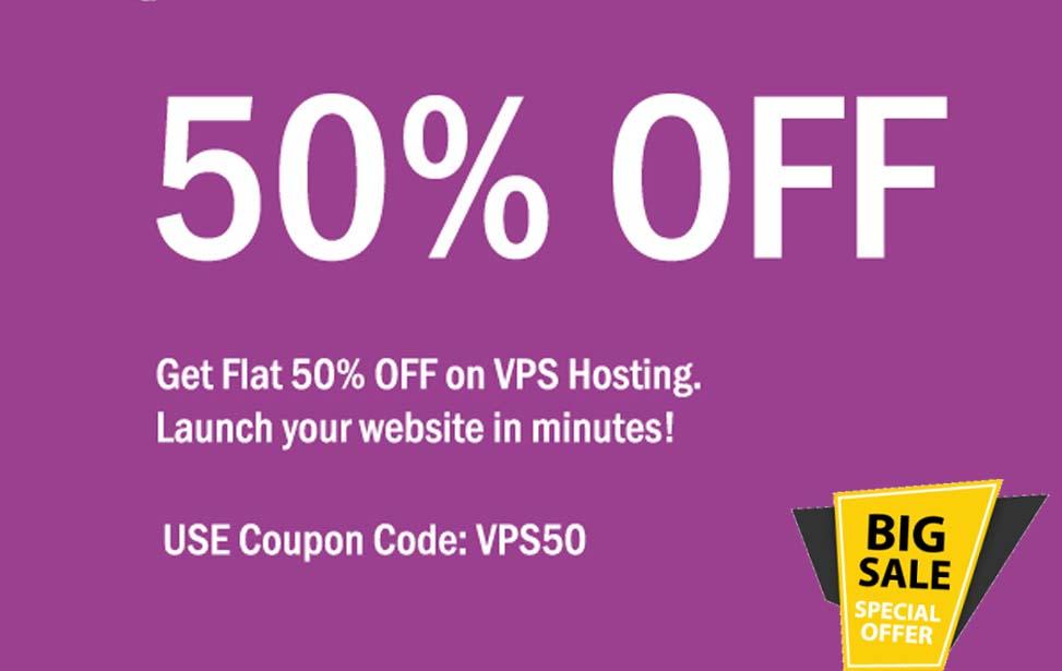 agmwebhosting - Flat 50% Off on VPS Hosting