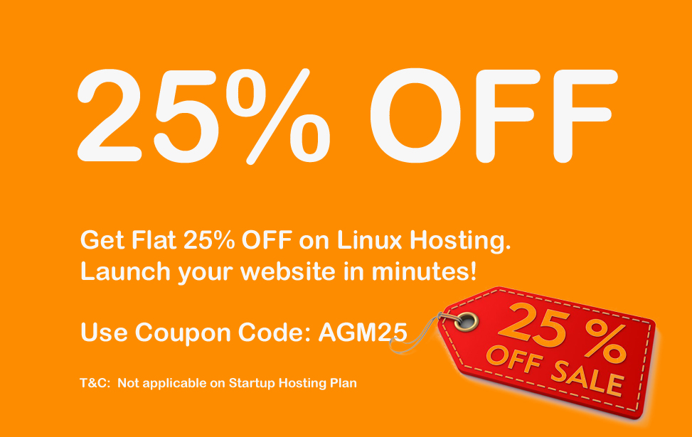 25% OFF ON HOSTING