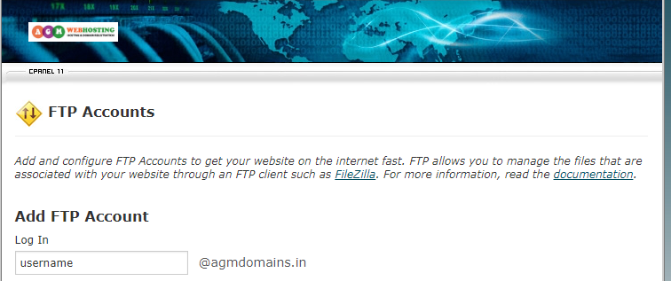 Add FTP Account