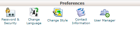 Cpanel Preference