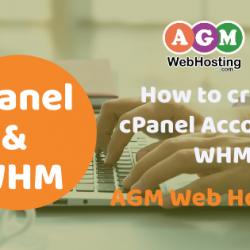 create cPanel in WHM